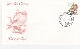 Enveloppe FDC  De A. BUZIN - Timbre N° 2526 - Geai Des Chênes/Vlaamse Gaai - 1985-.. Oiseaux (Buzin)