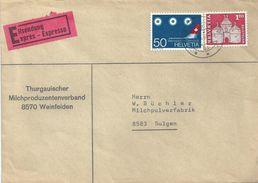 """Express Brief  """"Thurgauischer Milchproduzenten Verband, Weinfelden""""                1968 - Storia Postale"""