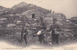 Verwundeten-Transport Im Gebirge       (P-64-40121) - Red Cross