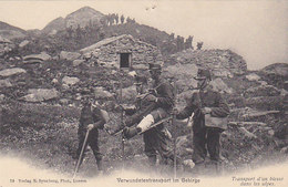 Verwundeten-Transport Im Gebirge       (P-64-40121) - Rotes Kreuz