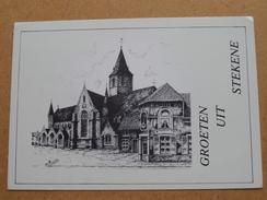 Groeten Uit Stekene / H. Kruiskerk ( Dirk Blommaert St. Pauwels ) Anno 19?? ( Zie Foto Details ) !! - Stekene