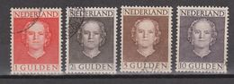 NVPH Nederland Netherlands Pays Bas Niederlande Holanda 534-537 Used ; Koningin Queen Reine Reina Juliana En Face 1949 - 1949-1980 (Juliana)