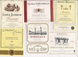 Etiquette - Lot De 6 - BORDEAUX Chateau Jeanrousse, Le Bourdillan,Chevalier Labuzan, Intendant Louis,Quinsac Bellevue - Colecciones & Series