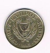 ) CYPRUS  20 CENTS   1983 - Chypre