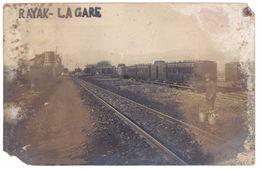 Cpa Carte-photo Liban, Syrie / Lebanon - Rayak, La Gare ( Dans L'état ) - Liban
