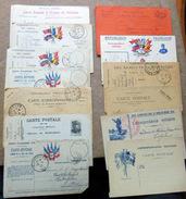 FRANCHISE MILITAIRE LOT DE 40 CARTES FRANCHISE MILITAIRE DIFFERENTES DONT RARES TOUTES EN PHOTO - Postmark Collection (Covers)