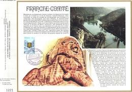 Sur Feuillet CEF , FDC 1977  Besançon .       FRANCHE - COMTE - FDC