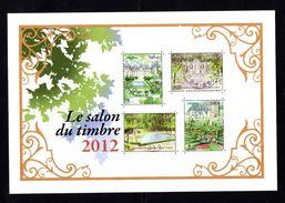 132 SALON DU TIMBRE 2012  JARDINS DE FRANCE - Bloc De Notas & Hojas
