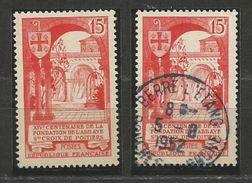 1952 - Yvert N° 926 ** Et O + 1 FDC + 3 Lettres - France