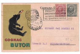 CARTOLINA POSTALE  COGNAC BUTON  ILLUSTRATORE MAGA - Publicidad
