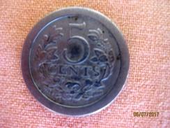Netherland: 5 Cents 1907 - [ 3] 1815-… : Kingdom Of The Netherlands