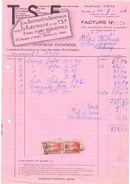 Factuur Facture - TSF électricité - Etabl. Van Boquestals - Bruxelles 1931 - Electricity & Gas