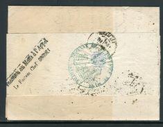 """France - Lettre En Recommandé Du Mans Pour Le Mans En 1879 Et Retour , Griffe """" Inconnu Au Mans à L 'Appel """" - Ref JJ 62 - Postmark Collection (Covers)"""