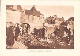 Héliogravure Le Marché De Sabots à Lesneven ( Cliché L. Henault ) - Estampes & Gravures