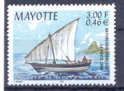 2000. Mayotte, Ship, 1v, Mint/** - Stamps