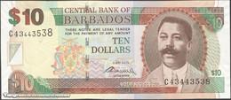 TWN - BARBADOS 68c - 10 Dollars 2.5.2012 Prefix C43 - Signature: Worrell UNC - Barbados