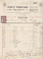 INVOICE, MORITZ FRANKMANN WOOL FACTORY, REVENUE STAMP, 1911, AUSTRIA - Autriche