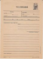 REPUBLIC COAT OF ARMS, UNUSED TELEGRAMME, 1978, ROMANIA - Télégraphes