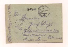 Feldpost-Falzbrief Samt Inhalt 5.8.1943 Von FP-Nr. 30038 Nach Wildendürnbach Kreis Mistelbach Ostmark - Covers & Documents