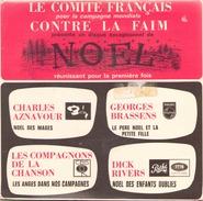 45 TOURS AZNAVOUR / BRASSENS / LES COMPAGNONS DE LA CHANSON / D. RIVERS CF NOEL - Weihnachtslieder