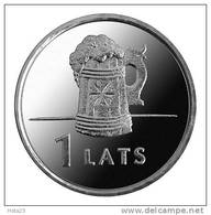 Latvia  Letland  / Lettonia 2011 Toby / Beer Cup Coin 1 Lats UNC - Lettonia