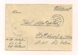 Feldpostbrief Ohne Inhalt 26.8.1941 Von Luft...Kommando 64 Nach Stettendorf Am Wagram Ostmark - Covers & Documents