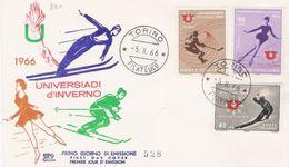 Fdc Chimera:UNIVERSIADI INVERNALI (1966); No Viaggiata ; AF_Torino - F.D.C.