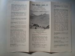 KENYA MOUNTAIN SAFARIS LTD. - KENYA, 1948 APROX. TOURISM. TRI-FOLD PAMPHLET. - Toeristische Brochures