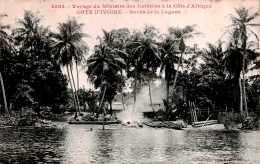 CPA Le Voyage Du Ministre Des Colonies à La Côte D' Afrique , Les Bords De La Lagune Code Postal  Cote D' Ivoire - Elfenbeinküste