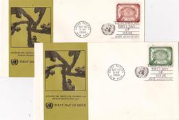 New York City, UNO. 2 Briefe 1958, Sets - New York -  VN Hauptquartier