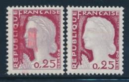 N°1263 - Défaut D'essuyage - TB - Curiosities: 1960-69 Mint/hinged