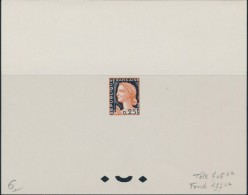 EPREUVE D' ARTISTE N°1263 - Epreuve En Noir Et Orange - TB - Luxury Proofs