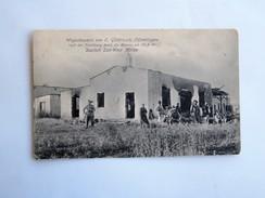 C.P.A. NAMIBIA : Wagenbauerei Von O. Glöditzsch, OTJIMBINGWE, Deutsch Süd-West. Africa - Namibie