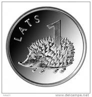 Latvia Lettland 2012 YEAR HEDGEHOG ANIMAL COIN 1 Lats UNC - Lettonia