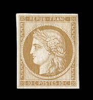 N°1f - 10c Bistre - Réimpression - TB - 1849-1850 Ceres