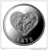 New LatviaLetland  / Lettonia  2011 Christmas Heart Gingerbread Coin 1 Lats UNC - Lettonia