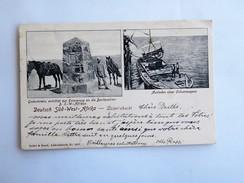 C.P.A. NAMIBIA : LUDERITZBUCHT, Deutsch Süd-West Africa: Gedenkstein, Ausladen Eines Ochsenwagens, In 1912 - Namibie