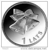 Latvia Lettland Lettonia Christmas Bell 1 Lats 2012 Christmas Coin UNC - Latvia