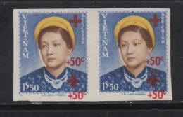 N°17a - Paire - ND - Dble Surcharge - TB - Vietnam