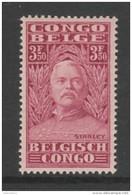 TIMBRE NEUF DU CONGO BELGE - CINQUANTENAIRE DU VOYAGE D´EXPLORATION DE STANLEY AU CONGO N° Y&T 146 - 1923-44: Neufs