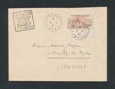 FRANCE - Exposition Philatélique De L'Est 23-24/1/1932 Cachet Sur Lettre De Nancy Le 24/1/32 Avec Orphelins N° Yvert 153 - France