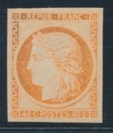N°5g - 40c Orange - Réimpression - TB - 1849-1850 Ceres
