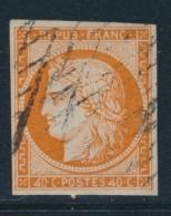 """N°5d - 40c Orange - Variété """"4 Retouché"""" - Signé - TB - 1849-1850 Ceres"""