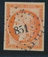N°5a - 40c Orange Vif - TB - 1849-1850 Ceres