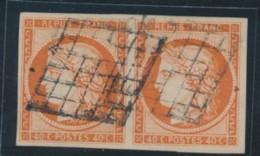 N°5a - 40c Orange Vif - Paire Horiz. - TB - 1849-1850 Ceres