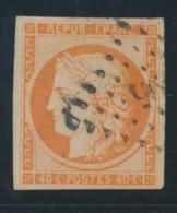 N°5 - 40c Orange - TB - 1849-1850 Ceres