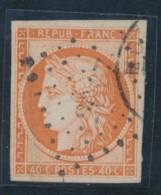 N°5 - 40c Orange - Obl. PC 2017 + Càd - Signé PASQUET - TB - 1849-1850 Ceres