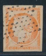 N°5 - 40c Orange - Obl. Étoile De PARIS - Signé - TB - 1849-1850 Ceres