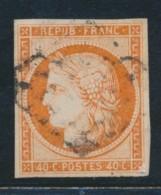 N°5 - 40c Orange - Signé JF Brun - TB - 1849-1850 Ceres