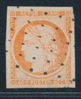 N°5 - 40c Orange - Signé Calves/Brun - TB - 1849-1850 Ceres
